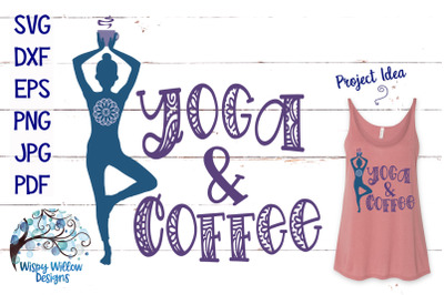 Yoga and Coffee SVG
