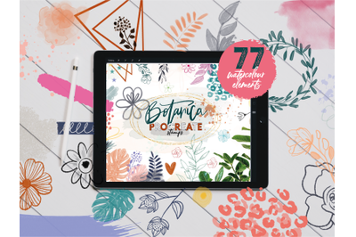 Botanica Watercolour Stamp Brushes for Procreate