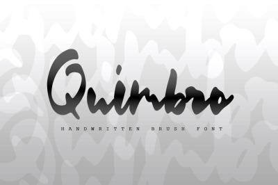 Quimbro | Handwritten Brush Font