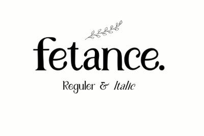 Fetance - Serif font