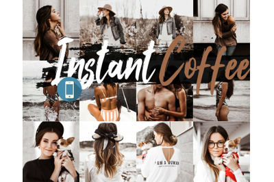 Neo Instant Coffee Theme mobile lightroom presets latte brown tone