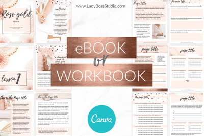 Canva Ebook Templates Rose Gold