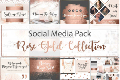 Canva Social Media Rose Gold