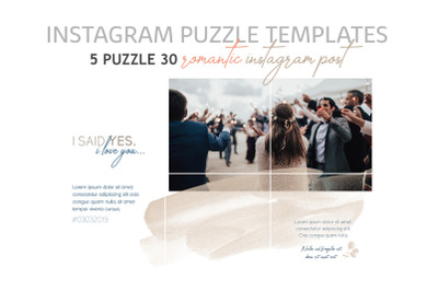 Romantic Instagram Puzzle Templates
