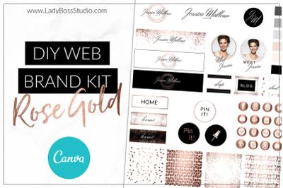 Canva Web Branding Kit - Rose Gold