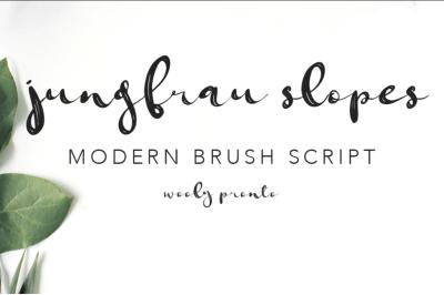 Jungfrau Modern Calligraphy Brush Script