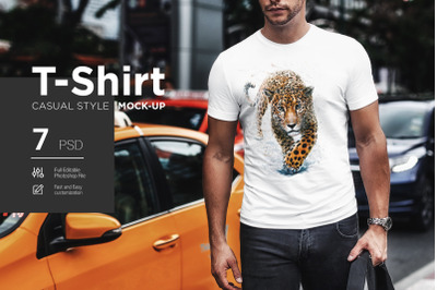 T-Shirt Mock-Up Casual Style