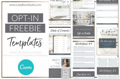 Modern Gold Opt-in Freebie Template Canva