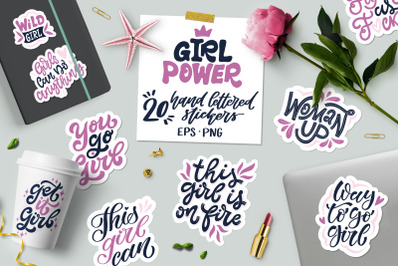Girl Power! Set of 20 Stickers