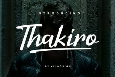 Thakiro // Modern Script Font