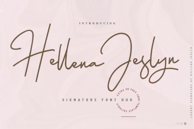 Hellena Jeslyn Font Duo (Free Logo)