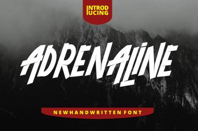 Adrenaline Font