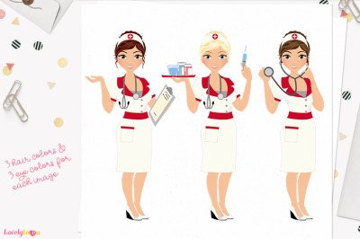 Retro nurse uniform (L401 Carly)