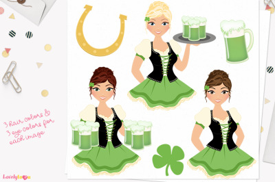 St Patrick's Day clipart (L371 Carly)