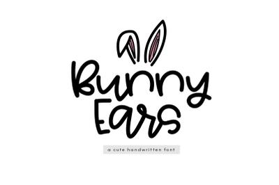 Bunny Ears - A Cute Handwritten Script Font