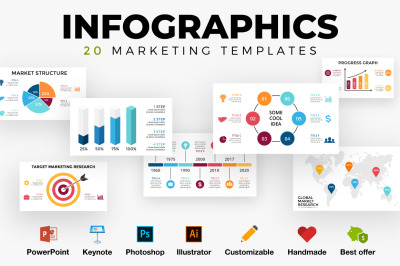 Infographics. Marketing templates. PSD AI EPS PPT KEY