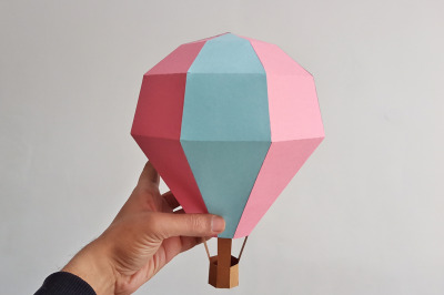 DIY Hot Air Balloon - 3d papercraft
