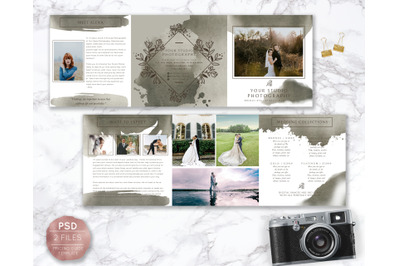 Watercolor Pricing Guide Template, Photography Pricing Design, Price L