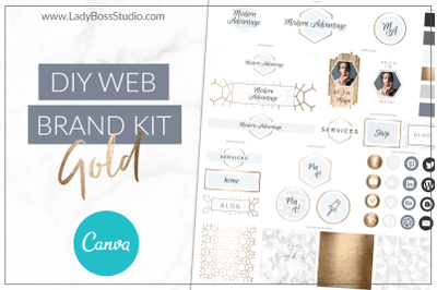 Canva Web Branding Kit Gold