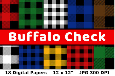 Buffalo Check Digital Paper, Buffalo Plaid Pattern