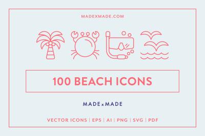 Line Icons  Beach