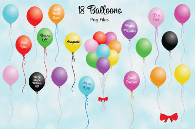 Balloon Bundle PNG's