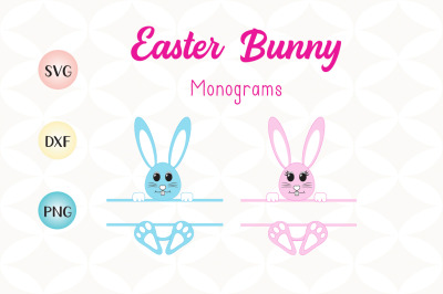 Easter Bunny SVG Monograms - For Crafters