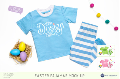 Easter Pajamas Mock up