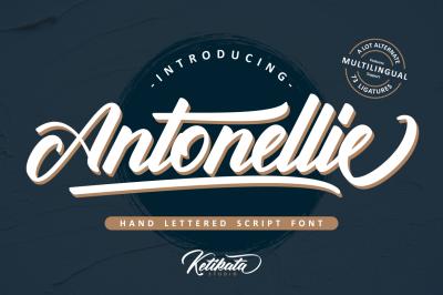 Antonellie Hand Lettered Script