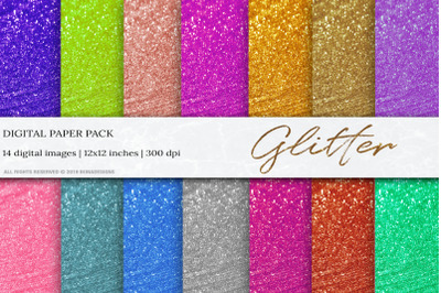 Glitter Digital Papers, Glitter Background