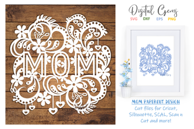 Mom papercut design