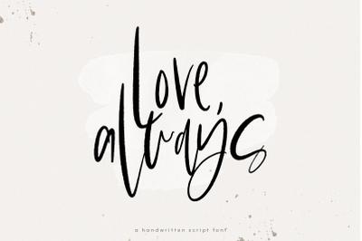 Love Always - Chic Handwritten Font