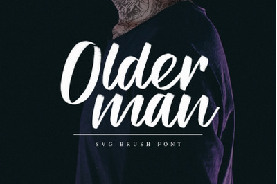 Olderman SVG Brush Font