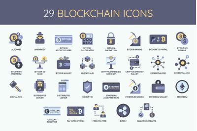 29 Blockchain Icons