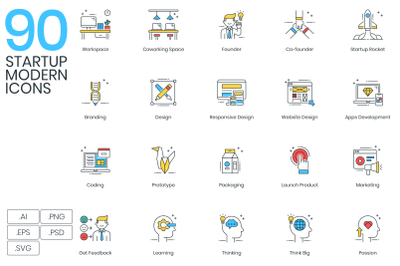 90 Startup Icons