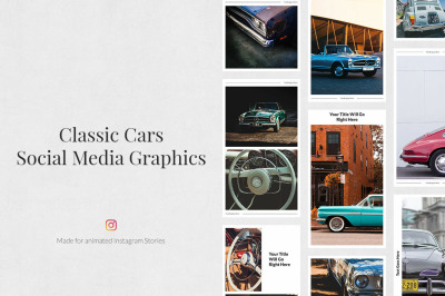 Classic Cars Animated Instagram Stories