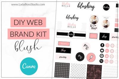 Canva Blush Web Branding Kit
