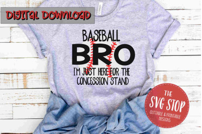 Baseball Bro -SVG, PNG, DXF