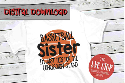 Basketball Sis -SVG, PNG, DXF