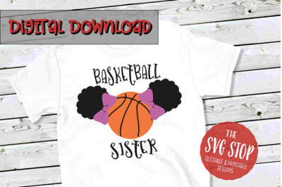 Basketball Sister 2-SVG, PNG, DXF