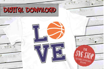 Love Basketball 2 -SVG, PNG, DXF