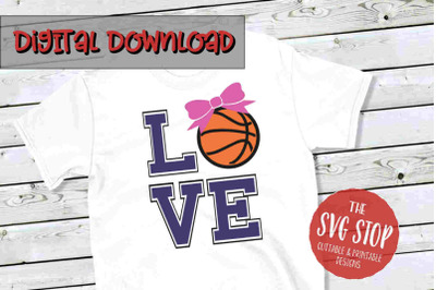 Love Basketball 3 -SVG, PNG, DXF