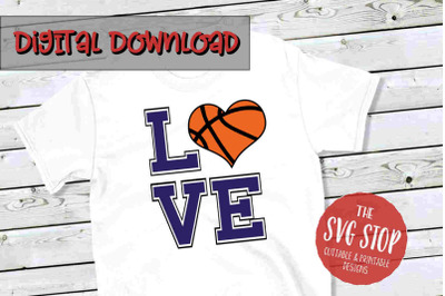 Love Basketball 4 -SVG, PNG, DXF