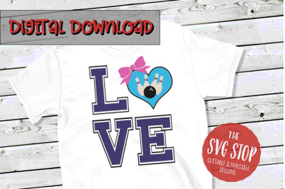 Love Bowling 3  -SVG, PNG, DXF