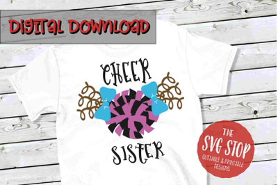 Cheer Sis -SVG, PNG, DXF