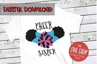 Cheer Sister  -SVG, PNG, DXF