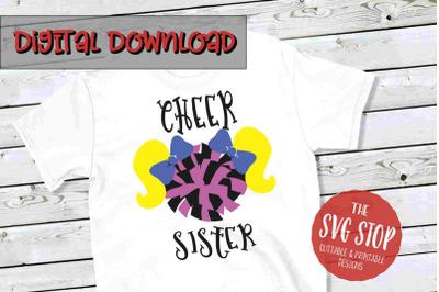 Cheer Sister 2 -SVG, PNG, DXF