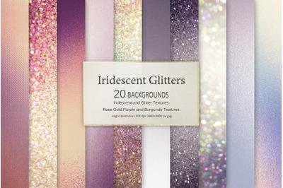 Iridescent Glitter Textures