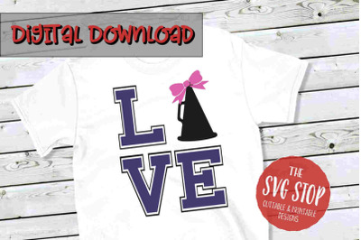 Love Cheer  -SVG, PNG, DXF