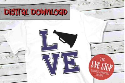 Love Cheer 2  -SVG, PNG, DXF